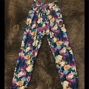 Vtg floral high waist fashiOn LA NY pants flower